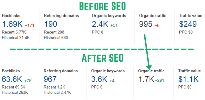 Result After My SEO Services