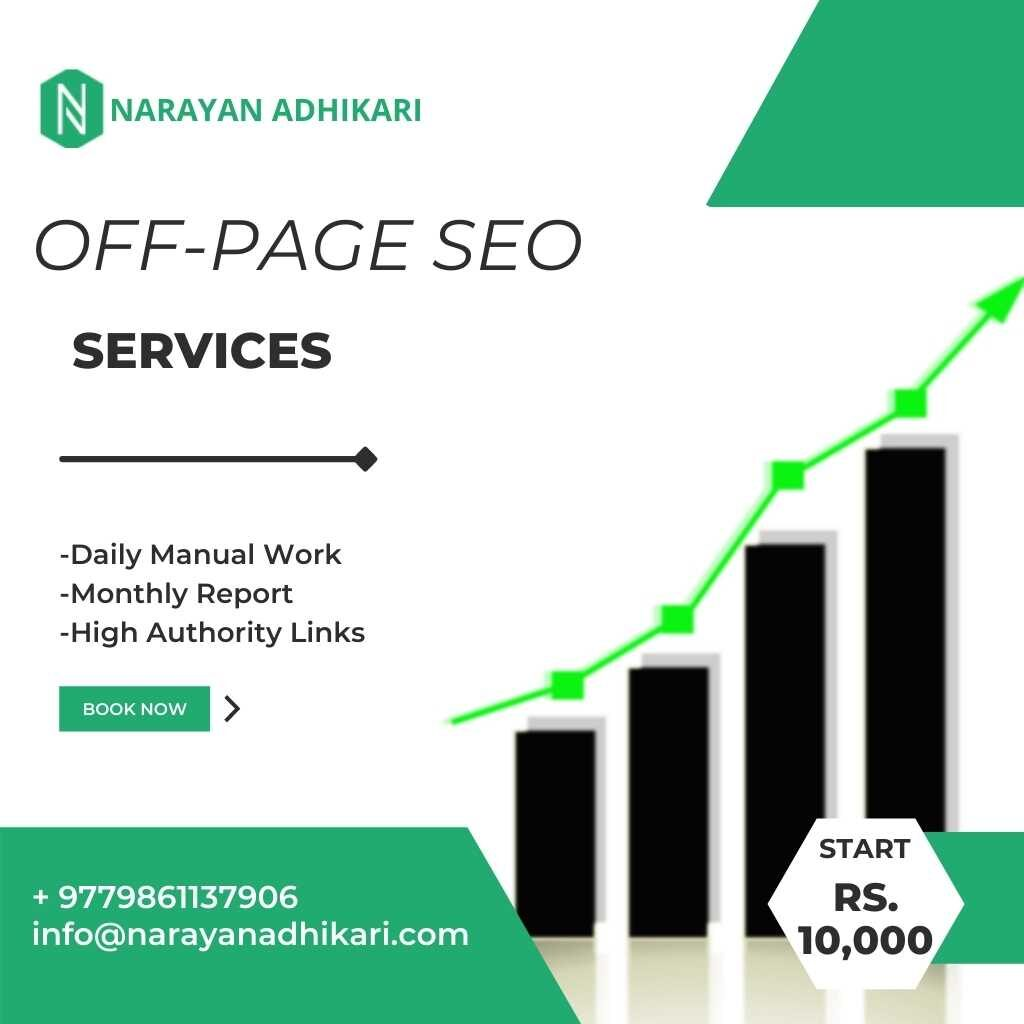 Off page SEO services in Nepal